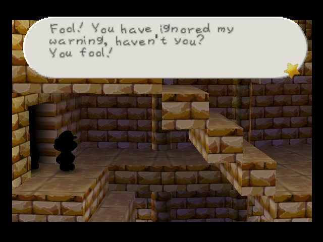Paper Mario - Level  - Come and face me you coward! - User Screenshot